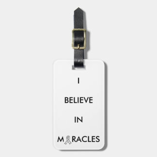 """""""believe in miracles"""" luggage tag"""