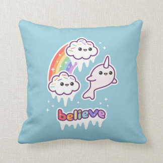 Believe in Narwhals Cushion