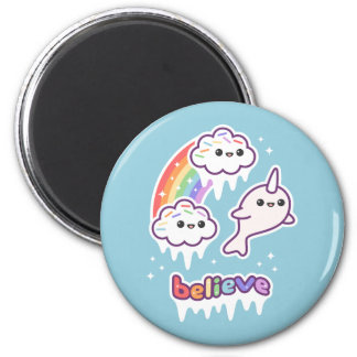 Believe in Narwhals Magnet