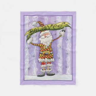 Believe In Santa Christmas Fleece Blanket