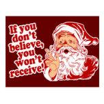 Believe In Santa, Christmas Postcard