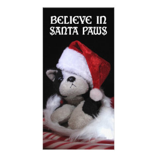 Believe in Santa Paws Custom Photo Card