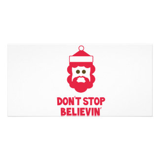 Believe in Santa! Photo Greeting Card