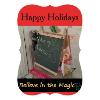 Believe in the Magic (Cat) Christmas Greeting Card 13 Cm X 18 Cm Invitation Card