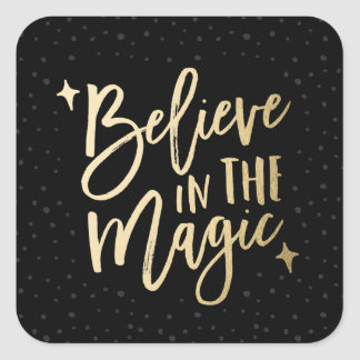 Believe In The Magic | Holiday Stickers in Black