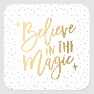 Believe In The Magic | Holiday Stickers in White