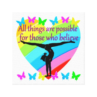 BELIEVE IN THE POWER OF YOUR GYMNASTICS DREAMS CANVAS PRINT