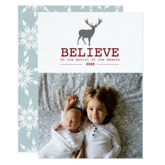 BELIEVE IN THE SEASON | REINDEER PHOTO CARD