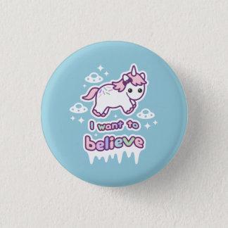 Believe in Unicorns and Aliens 3 Cm Round Badge