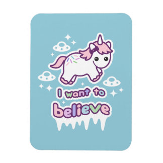 Believe in Unicorns and Aliens Magnet