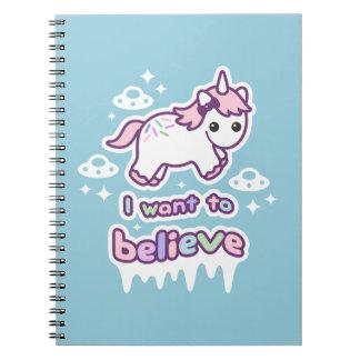 Believe in Unicorns and Aliens Notebooks