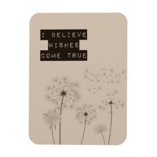 Believe in Wishes Dandelions Magnet