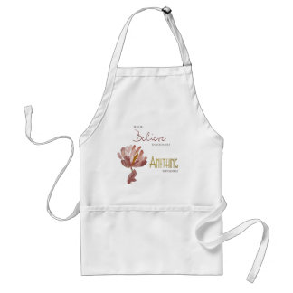 BELIEVE IN YOURSELF, ANYTHING POSSIBLE RUST FLORAL STANDARD APRON