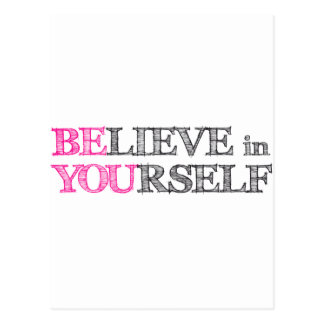 BElieve in YOUrself - BE YOU Postcards