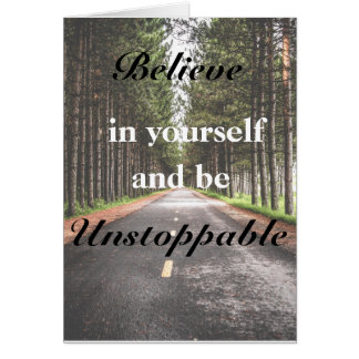 Believe in yourself Birthday Greeting card