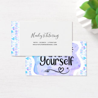 Believe in Yourself Business Card