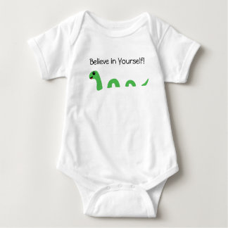 Believe in Yourself Cartoon Loch Ness Monster Baby Bodysuit