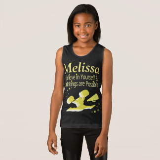 BELIEVE IN YOURSELF CHEERLEADING PERSONALIZED TANK