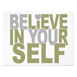 BELIEVE IN YOURSELF custom invitation