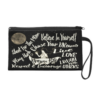 Believe in yourself Dream love clutch purse