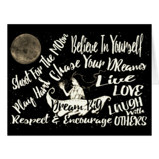 Believe in yourself Dream love Respect encourage Card