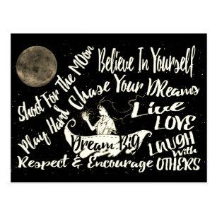 Believe in yourself Dream love Respect encourage Postcard