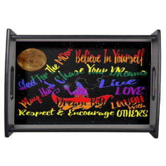 Believe in yourself Dream love serving tray
