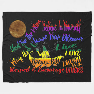 Believe in yourself Dream love throw blanket