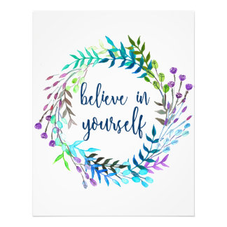 """Believe In Yourself"" Inspirational Quote Photo Print"