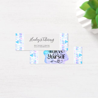 Believe in Yourself Mini Business Card