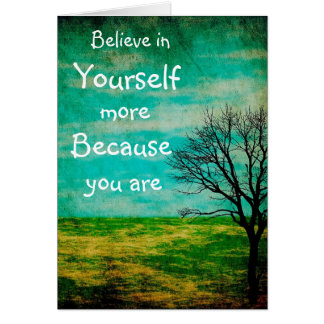 Believe in Yourself More Mystical Tree Simple Card