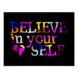 Believe In Yourself portfolio Poster