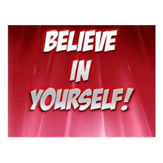 Believe in Yourself-products. Postcard