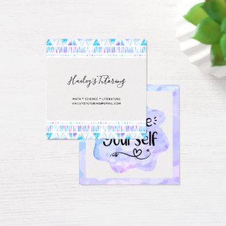 Believe in Yourself Square Business Card