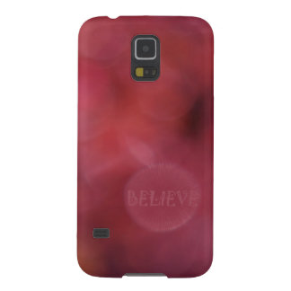 """Believe"" Inspirational Art w/Colorful Bokeh(Orig) Galaxy S5 Case"