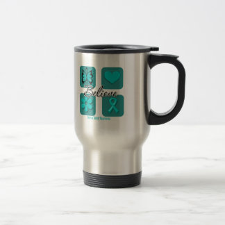 Believe Inspirations Ovarian Cancer Stainless Steel Travel Mug