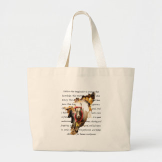 BELIEVE INTO IMAGINATION LARGE TOTE BAG