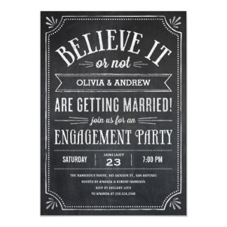 Believe It or Not Engagement Party Invitations