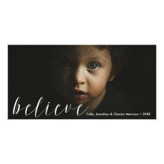 Believe | Modern Soulful Beautiful Holiday Photo Card