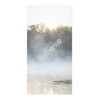 Believe Morning Lake Mist Picture Card