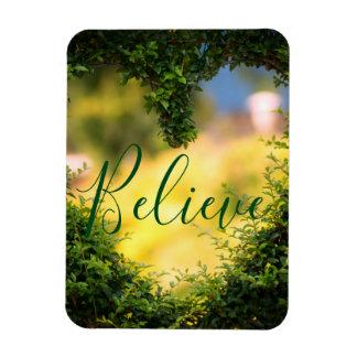 Believe | Motivational, Inspirational Heart Magnet