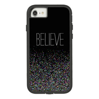 Believe ~ Multicolor Faux Glitter Case-Mate Tough Extreme iPhone 8/7 Case