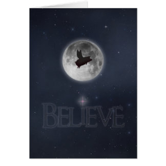 Believe-Nocturnal Flying Pig Card