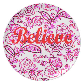 Believe Party Plates