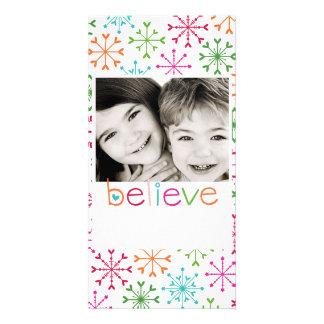 believe photo card