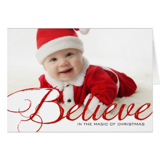 Believe - Photo Holiday Card