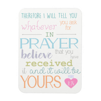 believe prayer christian magnet bible verse