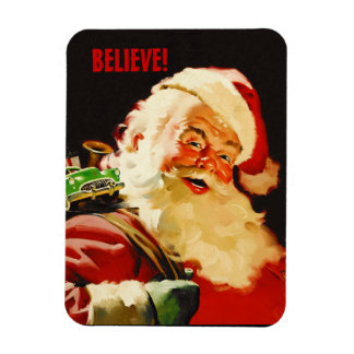 Believe! Santa Claus Christmas Gift Magnets