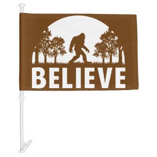Believe Sasquatch Car Flag