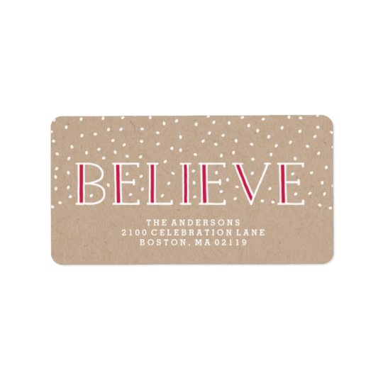 Believe Snowfall | Holiday Address Labels